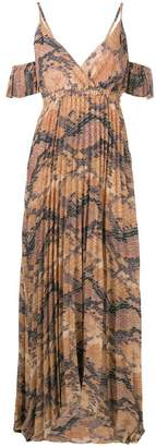 Just Cavalli cold-shoulder maxi dress