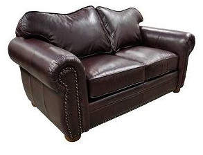 Omnia Leather Monte Carlo Leather Loveseat