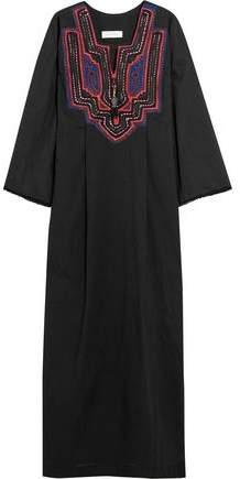 Buy Celia Dragouni Goddess Embroidered Cotton-Voile Maxi Dress!