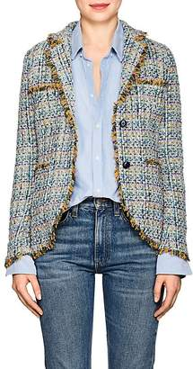 Barneys New York Women's Cotton-Blend Tweed Two-Button Blazer