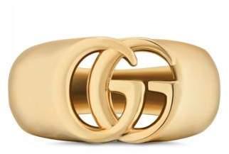 Gucci GG Running yellow gold chevalier ring