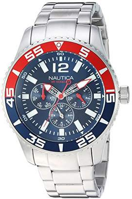 Nautica Men's 'White Cap' Quartz Stainless Steel Casual Watch