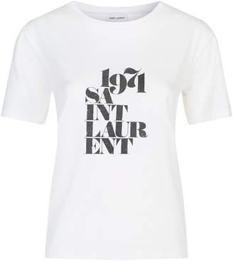 Saint Laurent Cotton 1971 Logo T-Shirt