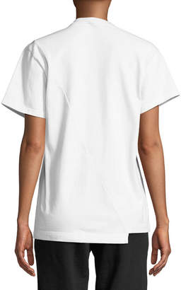 Vetements Crewneck Short-Sleeve Colorblocked Cotton Tee