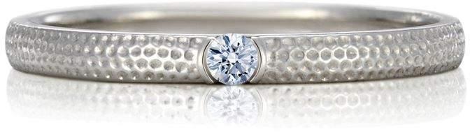 White Gold and Diamond Azulea Ring