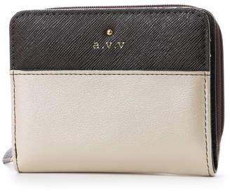 a.v.v (アー ヴェ ヴェ) - アー ヴェ ヴェ a.v.v ラウンドファスナー二つ折財布 (ベージュ)