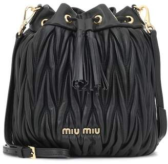 Miu Miu Matelassé leather bucket bag
