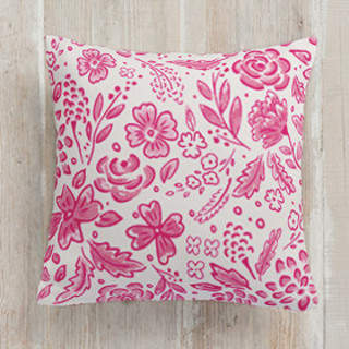 Graffiti Flora Square Pillow