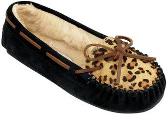 Minnetonka Leopard Cally Slippers