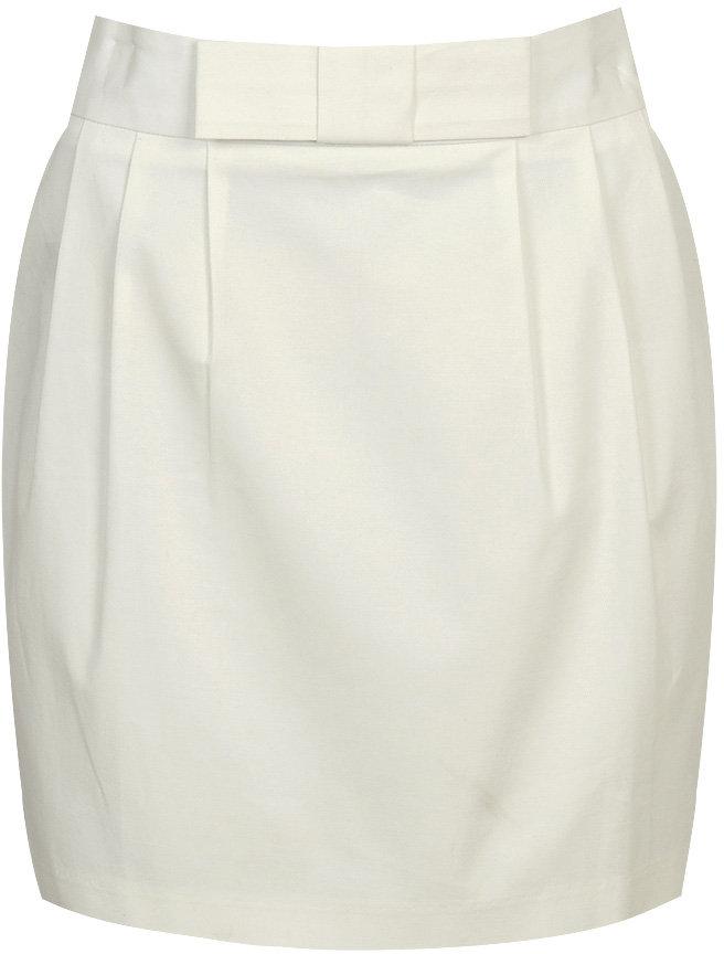 Folded Bow Pleated Skirt