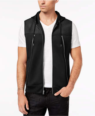 INC International Concepts I.n.c. Men's Zip-Front Hooded Vest, Created for Macy's