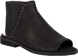 Sole Society Peep Toe Flat Leather Booties - Birty