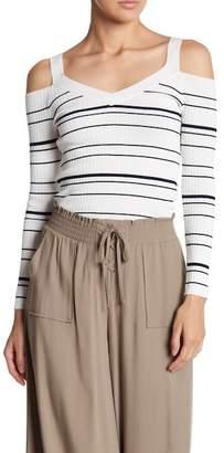 BB Dakota Apollo Striped Long Sleeve Knit Pullover