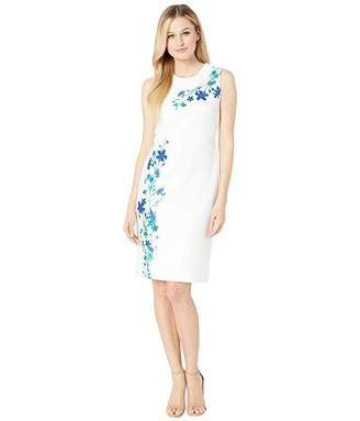 Calvin Klein Flower Print Sheath Dress