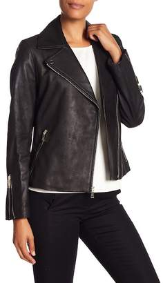 T Tahari Skylar Leather Jacket