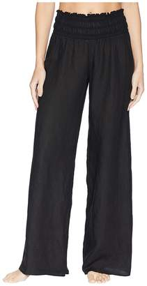 Hard Tail Smocked Waist Pants Women's Casual Pants