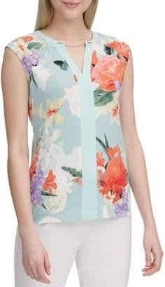 Calvin Klein Collection Floral-Print Sleeveless Top