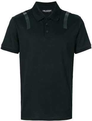 Neil Barrett striped shoulder polo shirt
