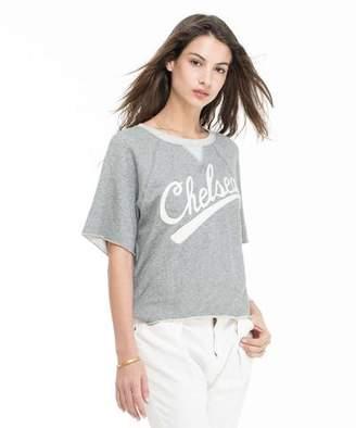 Todd Snyder + Champion: Womens Women's Short Sleeve Sweatshirt in Light Grey Mix