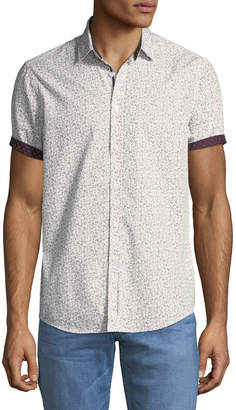 Report Collection Men's Ditsy Floral Sport Shirt