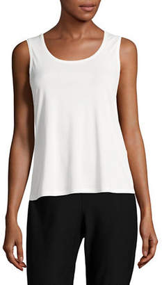 Eileen Fisher Stretch Silk Tank Top