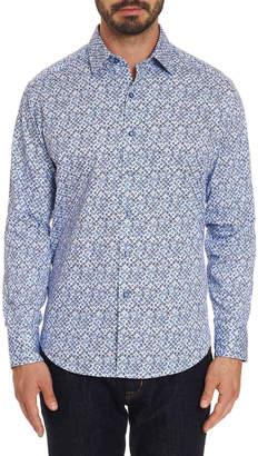 Robert Graham Men's Long Sleeve Celadon Dress Shirt