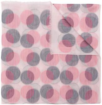 Paul Smith circle print scarf