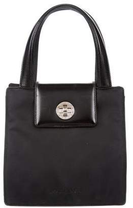 Bvlgari Leather-Trimmed Woven Bag