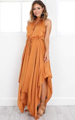 Showpo Feel The Heat maxi dress in rust