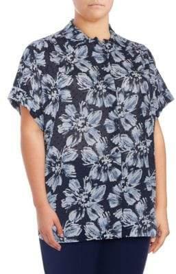 Plus Irina Floral Cotton Blouse