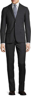 Neiman Marcus Slim-Fit Pinstriped Suit, Charcoal