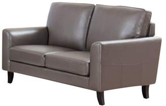 Benzara Contemporary Style Gray Loveseat With Velvety Cushion