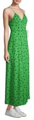 Ganni Dainty Georgette Polka Dot Dress