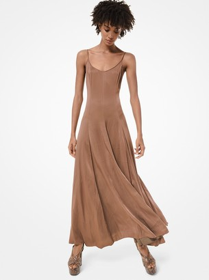 Michael Kors Crushed Satin Charmeuse Slip Dress