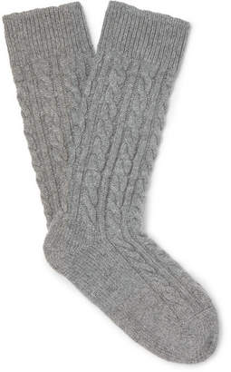 Corgi Kingsman Cable-Knit Cashmere Socks