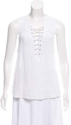 McGuire Denim Sleeveless Lace-Up Top w/ Tags