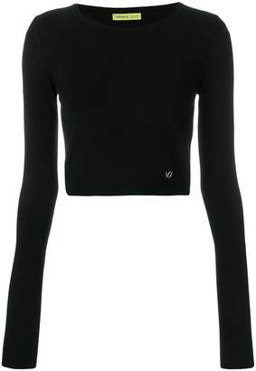 Versace fitted cropped jumper