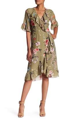 Luma Floral Wrap Dress