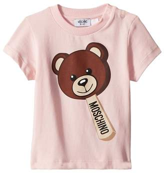 Moschino Kids - Short Sleeve Teddy Bear Ice Cream Graphic T-Shirt