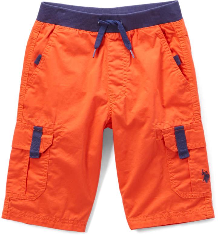 Warm Coral Cargo Shorts - Boys