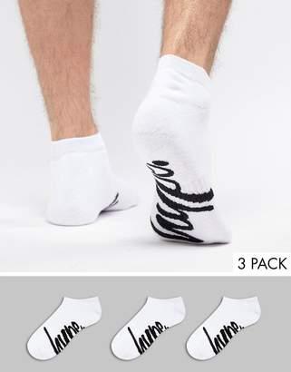 Hype 3 Pack Ankle Socks In White