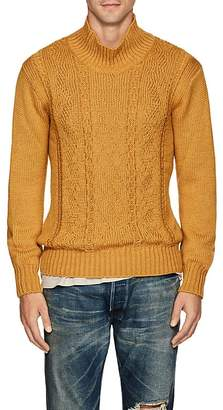 Inis Meain Men's Reverse-Cable-Knit Alpaca-Silk Sweater