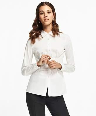 Brooks Brothers Stretch Cotton Peplum Shirt
