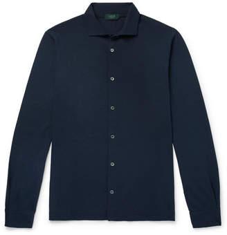 Incotex Slim-Fit Cutaway-Collar Cotton-Jersey Shirt