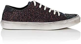 Saint Laurent Women's Bedford Glitter Sneakers - Dk. Green