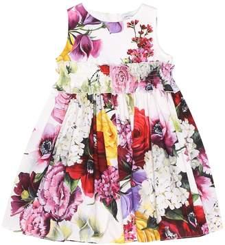Dolce & Gabbana Baby floral cotton poplin dress