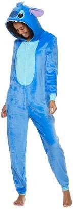 Disney Disney's Stitch Juniors' Hooded One-Piece Pajamas