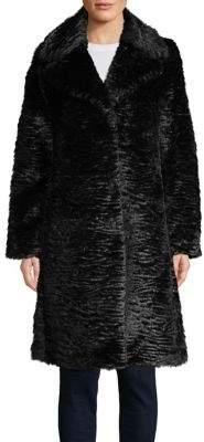 Kate Spade Faux Fur Long-Sleeve Wrap Coat