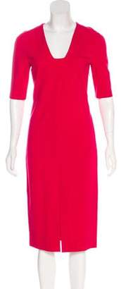 Diane von Furstenberg Short Sleeve Midi Dress