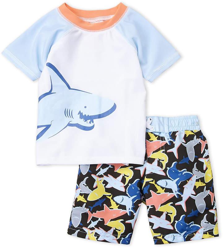 Sol Swim (Infant Boys) Two-Piece Shark Rash Guard & Trunks Set